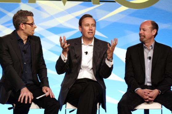 Entrepreneur Tip - Photo: Matt Marshall of VentureBeat, Steve Jurvetson, and Jody Holtzman (L-R). Photo credit: Heather Kelly-VentureBeat