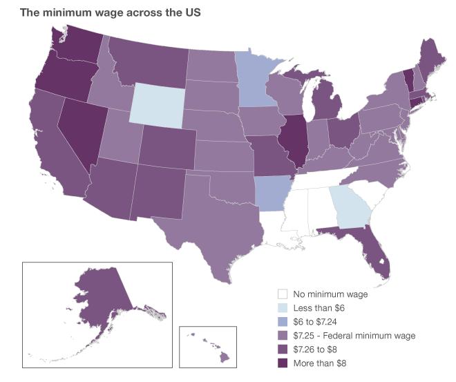 minimum wage: USA